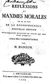 Reflexions et maximes morales de M. le duc de la Rochefoucault