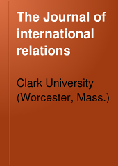 The Journal of International Relations: Volume 7