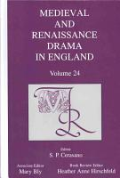 Medieval and Renaissance Drama in England PDF