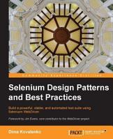 Selenium Design Patterns and Best Practices PDF