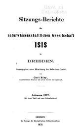 Sitzungsberichte und abhandlungen der Naturwissenschaftlichen gesellschaft Isis in Dresden