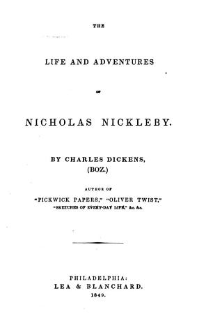 The Novels and Tales of Charles Dickens   Boz    PDF