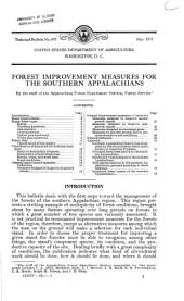Forest improvement measures for the southern Appalachians