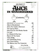 Vocal Selections from Walt Disney's Alice in Wonderland