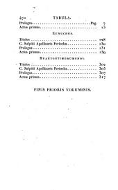 Publii Terentii Afri comoediae ex optimarum editionum textu recensitae quas adnotatione perpetua, variis disquisitionibus et indice rerum locupletissimo illustravit: Volume 1