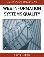 Handbook of Research on Web Information Systems Quality PDF