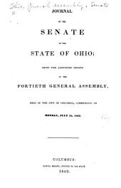 Journal of the Senate of the ... General Assembly of the State of Ohio ...: Volume 40