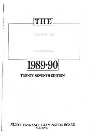 College Handbook, 1989-90