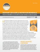 Synthèse: Rapport 2014 Sur La Nutrition Mondiale: Mesures et redevabilité en vue d'accélérer les progrès mondiaux en matière de nutrition, Volume85