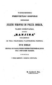 Izbor starih ilirskih piesnikah: Dinka Ranjine, vlastelina dubrovačkoga Piesni razlike pisane 1550-1563, Book 2