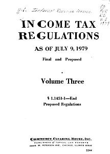 Income Tax Regulations  Final and Proposed Under Internal Revenue Code PDF