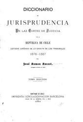 Diccionario de jurisprudencia de las cortes de justicia de la República de Chile: estudio jurídico de la Gaceta de los tribunales 1878-1887, Volumen 2