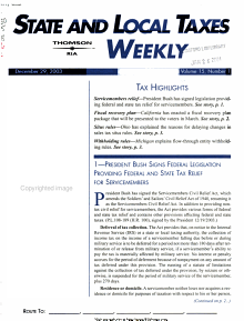 State   Local Taxes Weekly PDF