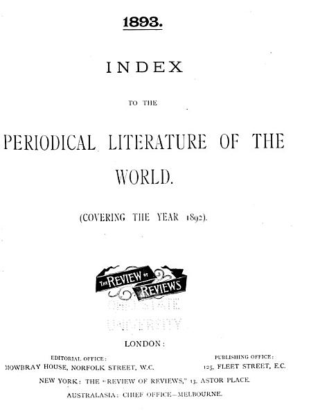 Download Index to the Periodical Literature of the World Book