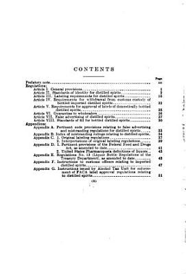 Regulations Relating to False Advertising and Misbranding of Distilled Spirits