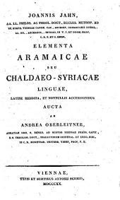 Elementa Aramaicae seu Chaldaeo-Syriacae linguae