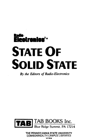 Radio electronics  State of Solid State PDF