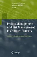 Project Management and Risk Management in Complex Projects PDF