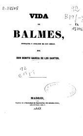 Vida de Balmes: estracto y analisis de sus obras