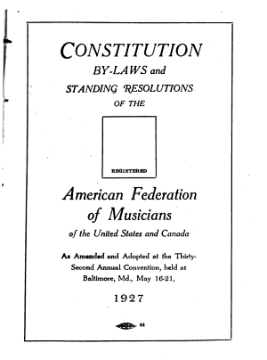 Constitution  By laws and Policy of the Federation