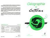 Géographie et cultures n°8