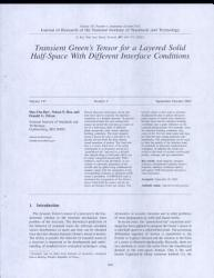 Transient Green S Tensor For A Layered Solid Half Space With Different Interface Conditions Book PDF