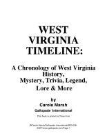 West Virginia Timeline PDF