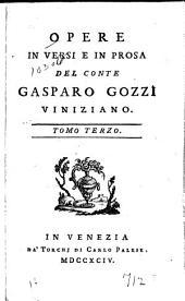 Opere in Versi e in Prosa: Volume 3