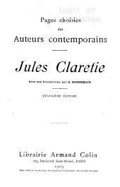 Pages choisies des auteurs contemporains