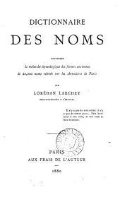Dictionnaire des noms ...