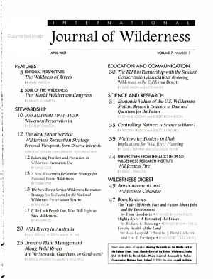 International Journal of Wilderness PDF