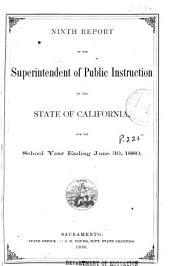 Report of the Superintendent of Public Instruction of the State of California