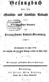 Gesangbuch für die öffentliche und häusliche Andacht der evangelischen Gemeinden im Herzogthume Anhalt-Bernburg
