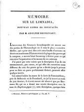 Mémoire sur le Limnadia, nouveau genre de crustacés. Par m. Adolphe Brongniart