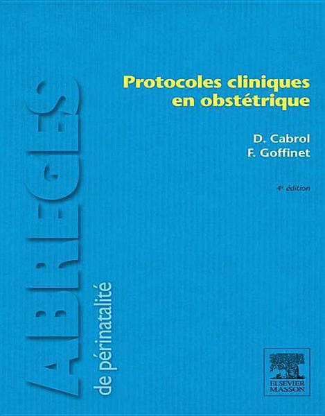Protocoles Cliniques En Obstetrique