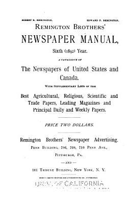 Remington Brothers' Newspaper Manual