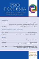 Pro Ecclesia Vol 23 N2 PDF