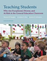 Teaching Students Who are Exceptional  Diverse  and At Risk in the General Education PDF