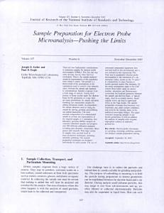 Sample Preparation for Electron Probe Microanalysis   Pushing the Limits PDF