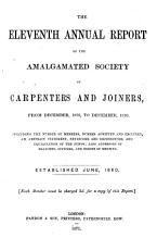 The Eleventh Annual Report of the Amalgamated Society of Carpenters and Joiners from December  1869  to December1870 PDF