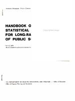 Handbook of Statistical Procedures for Long range Projections of Public School Enrollment PDF