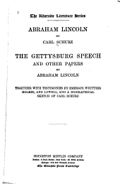 Abraham Lincoln: Volume 1