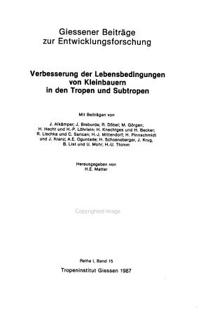 Giessener Beitr  ge zur Entwicklungsforschung PDF