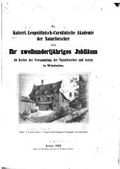 Die Kaiserlich Leopoldinisch-Carolinische Akademie der Naturforscher feiert ihr zweihundertjähriges Jubiläum im Kreise der Versammlung der Naturforscher und Aerzte in Wiesbaden