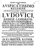 Oratio gratulatoria ... qua ... de officio boni principis ... agitur: Volume 3