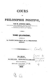 Cours de philosophie positive: Volume 4