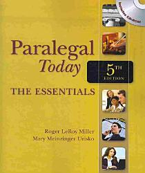 Paralegal Today The Essentials Book PDF