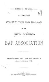 Minutes, Constitution and by Laws of the New Mexico Bar Association: Volume 2