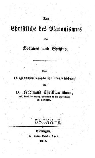 Das Christliche des Platonismus oder Sokrates und Christus  Eine religionsphilosoph  Untersuchung PDF