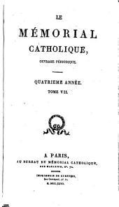 Mémorial catholique: ouvrage périodique, Volume7